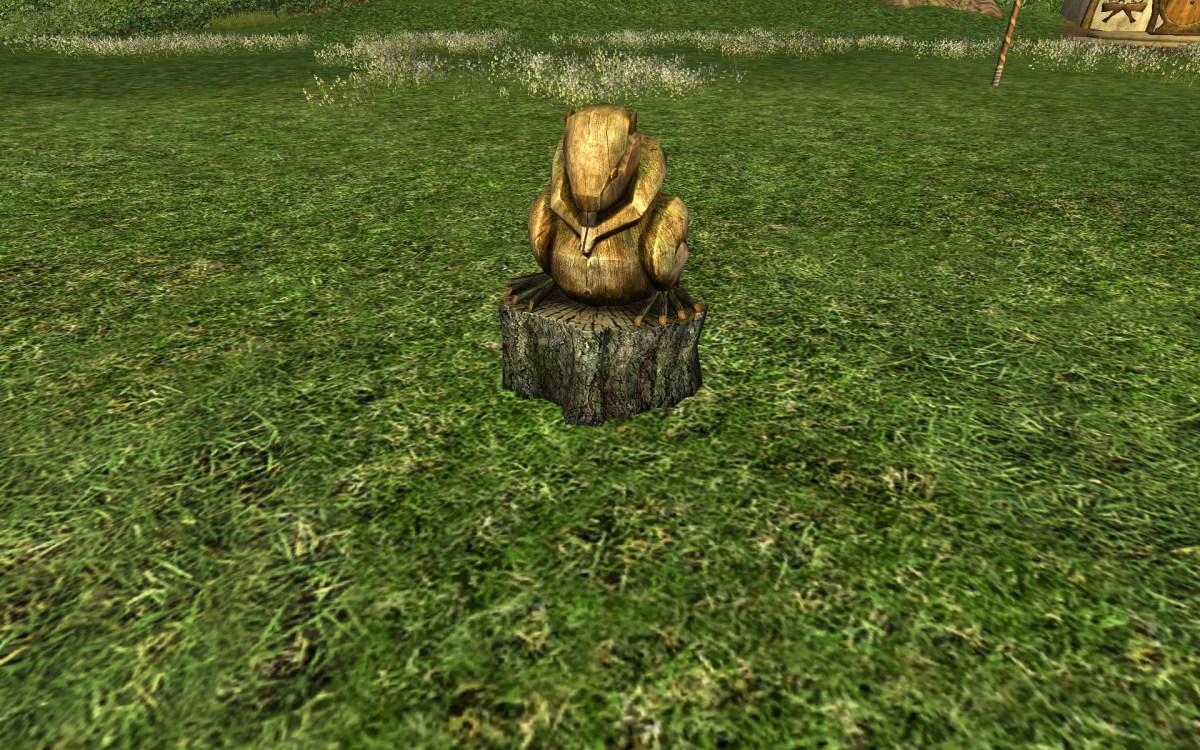 Statue de Castor en Bois