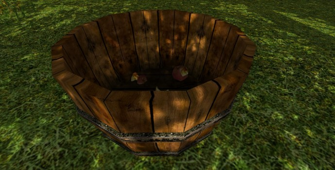 Cageot de pommes de Crin-fou