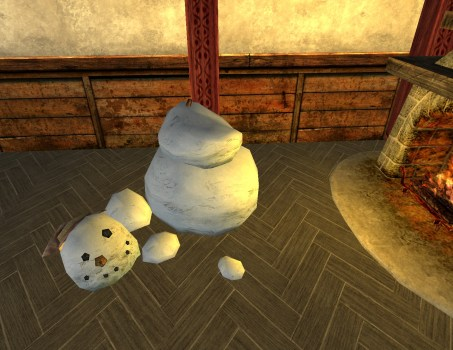 Bonhomme de neige Malheureux
