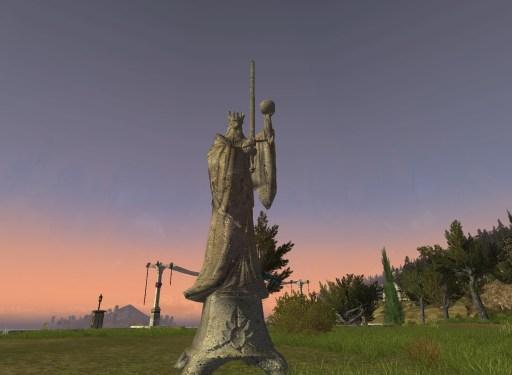 Statue: l'Orbe et l'Épée