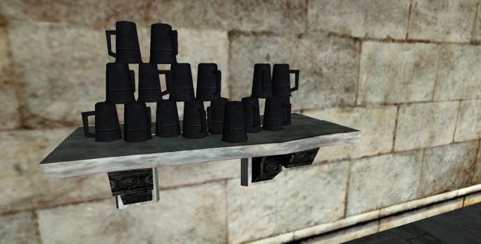 Petite étagère de tasses du Gondor