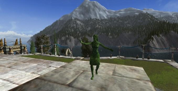 Sculpture végétale d'Elfe
