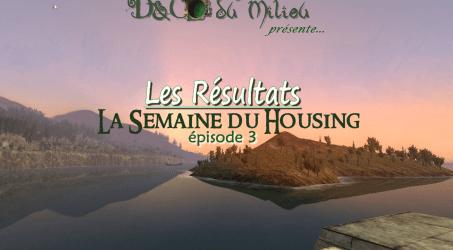 Semaine du Housing #3: Les Résultats
