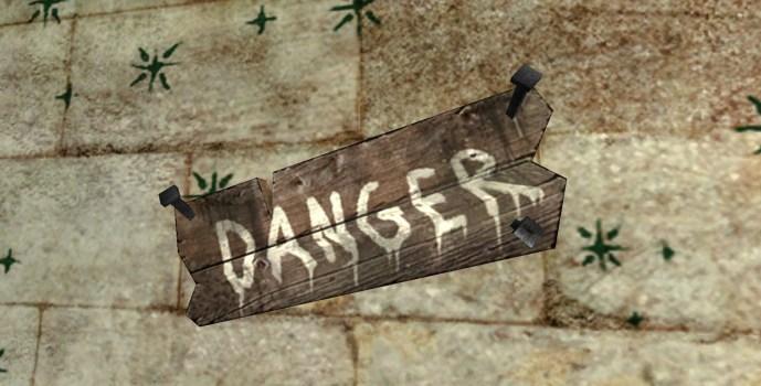 Panneau : Danger !