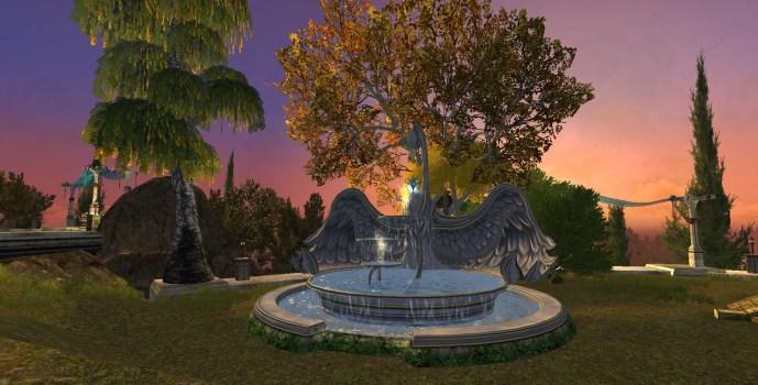 Énorme Fontaine de Cygne