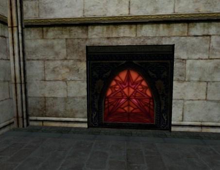 Grande fenêtre de vitraux – Rouges