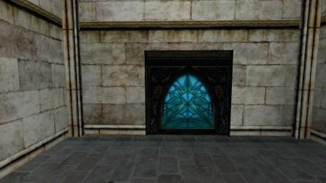 Grande fenêtre de vitraux – Bleus