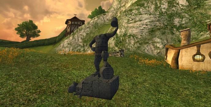 Statue de la Ligue des Tavernes Profanée