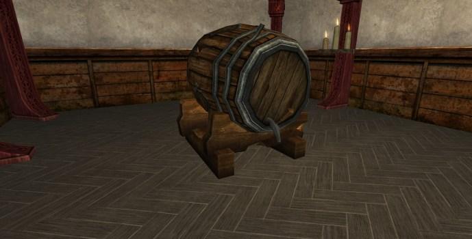 Statue de la Ligue des Tavernes Profanée (Tonneau)