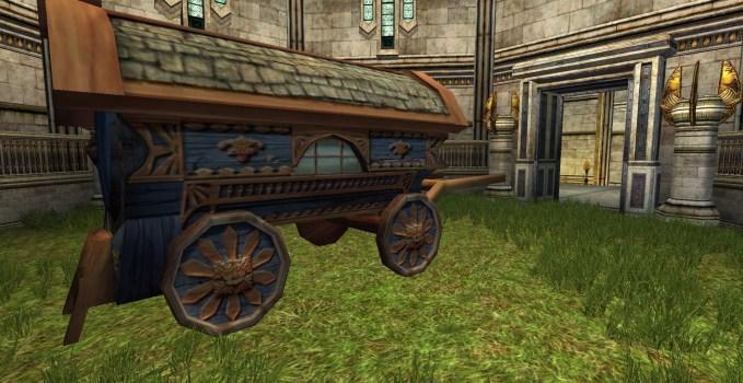 Chariot de Hobbit Bleu
