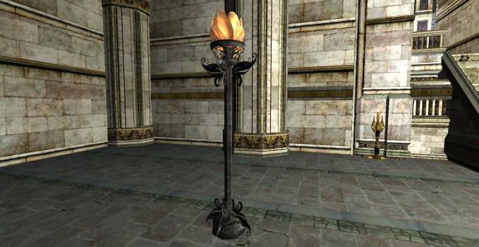Lampadaire floral de Felegoth
