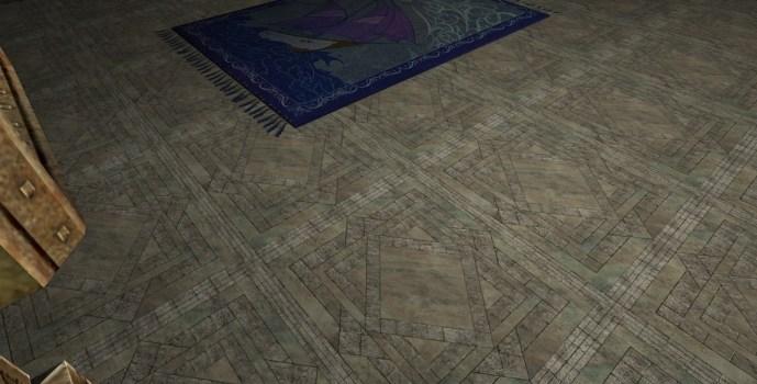 Plancher en pierres avec Inclusions d'Opales