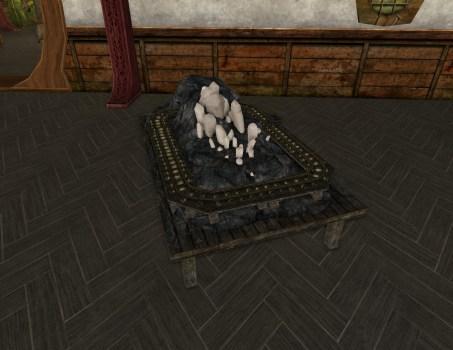 Scénette de Chariot Minier pour Table