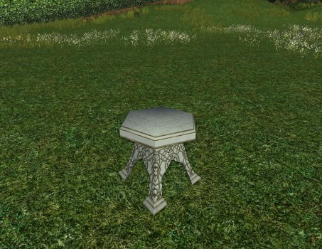 Table de Jardin en Albâtre