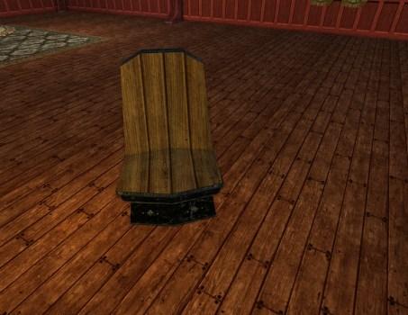 Chaise en Obsidienne de fabrication Naine