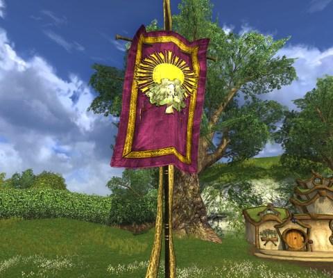 Bannière Violette de Célébration de l'Été