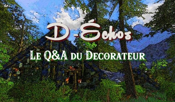 D-Échos : La petite interview du Décorateur
