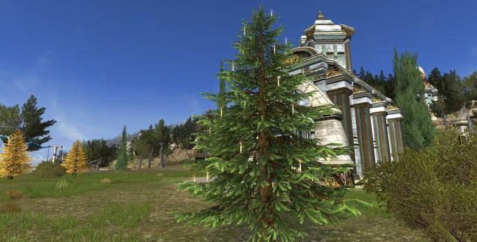 Arbre d'Hiver Festif pour l'Extérieur (Celebratory Outdoor Winter Tree)