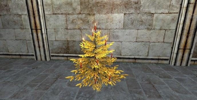 Arbre d'Or Festif d'Hiver