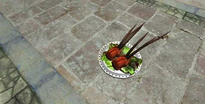 Assiette de faisan rôti (Platter of Roast Pheasant)
