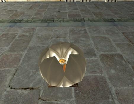 Lanterne Flottante Blanche – Fermée
