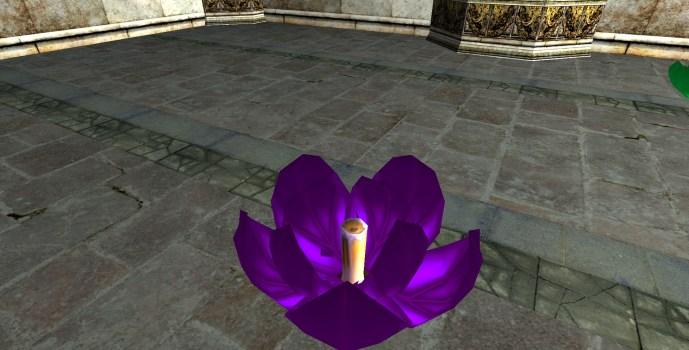 Lanterne Flottante Violette – Semi-ouverte (Purple Floating Lantern – Half-Open)
