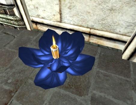 Lanterne Flottante Bleue – Ouverte