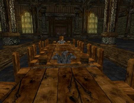Table de Banquet Décorée Vide