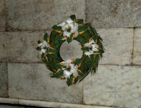 Couronne de Poinsettias Blancs