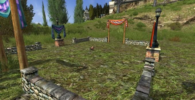 Petit terrain de chasse-poulet avec poulet Wyandotte orange