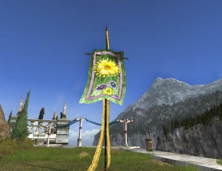 Bannière Verte de Fleurs Printanières