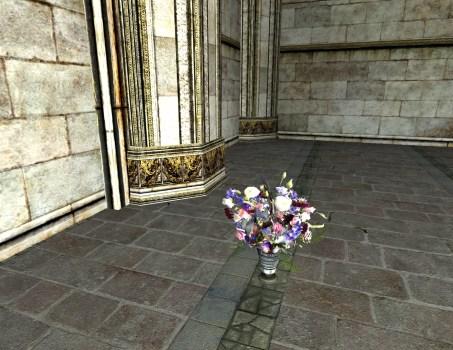 Vase du Solstice d'été – Arrangement Rose et Violet