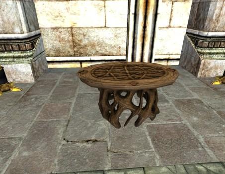 Table d'Appoint Tisse-Bois