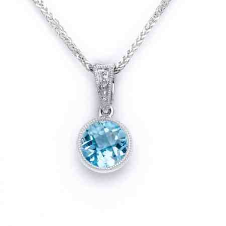 White Gold Blue Topaz