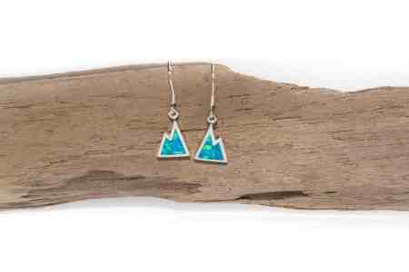 Iridescent Opal Mountain Earrings 1