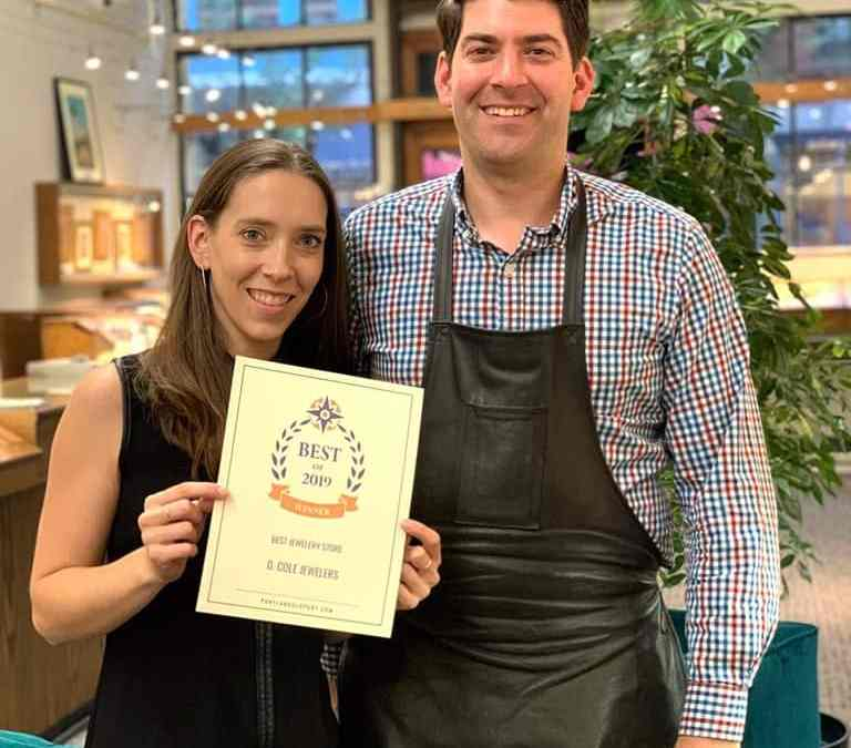 D. Cole Wins 'Best Portland Jewelry Store' for 2019