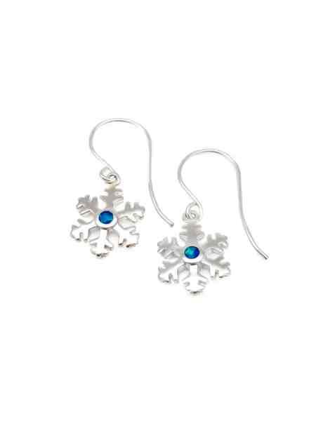 Opal Snowflake Earrings 1