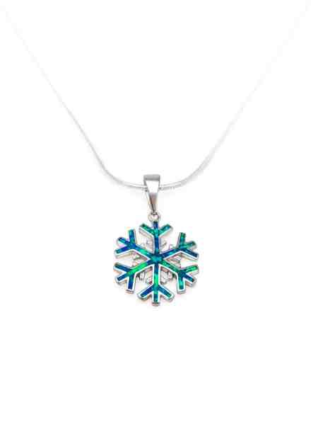 Opal Snowflake Pendant 1