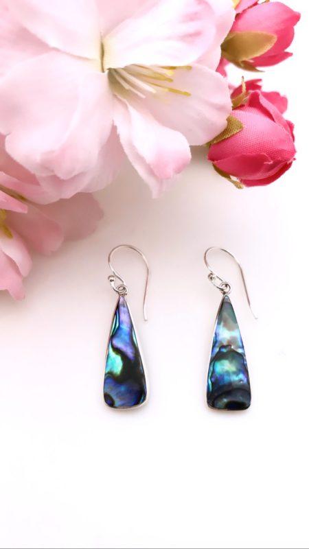Teardrop Abalone Earrings 2