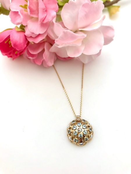 Blue Topaz Hemisphere Necklace 1