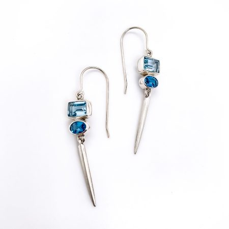 Blue Topaz Icicles Earrings 3