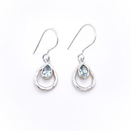 Teardrop Gemstone Earrings 3