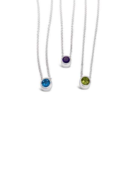 Bezel Stone Necklace 1