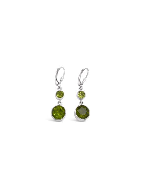 Double Peridot Drop Earrings 1