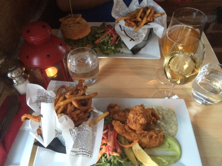 Fish & chips et Hamburger