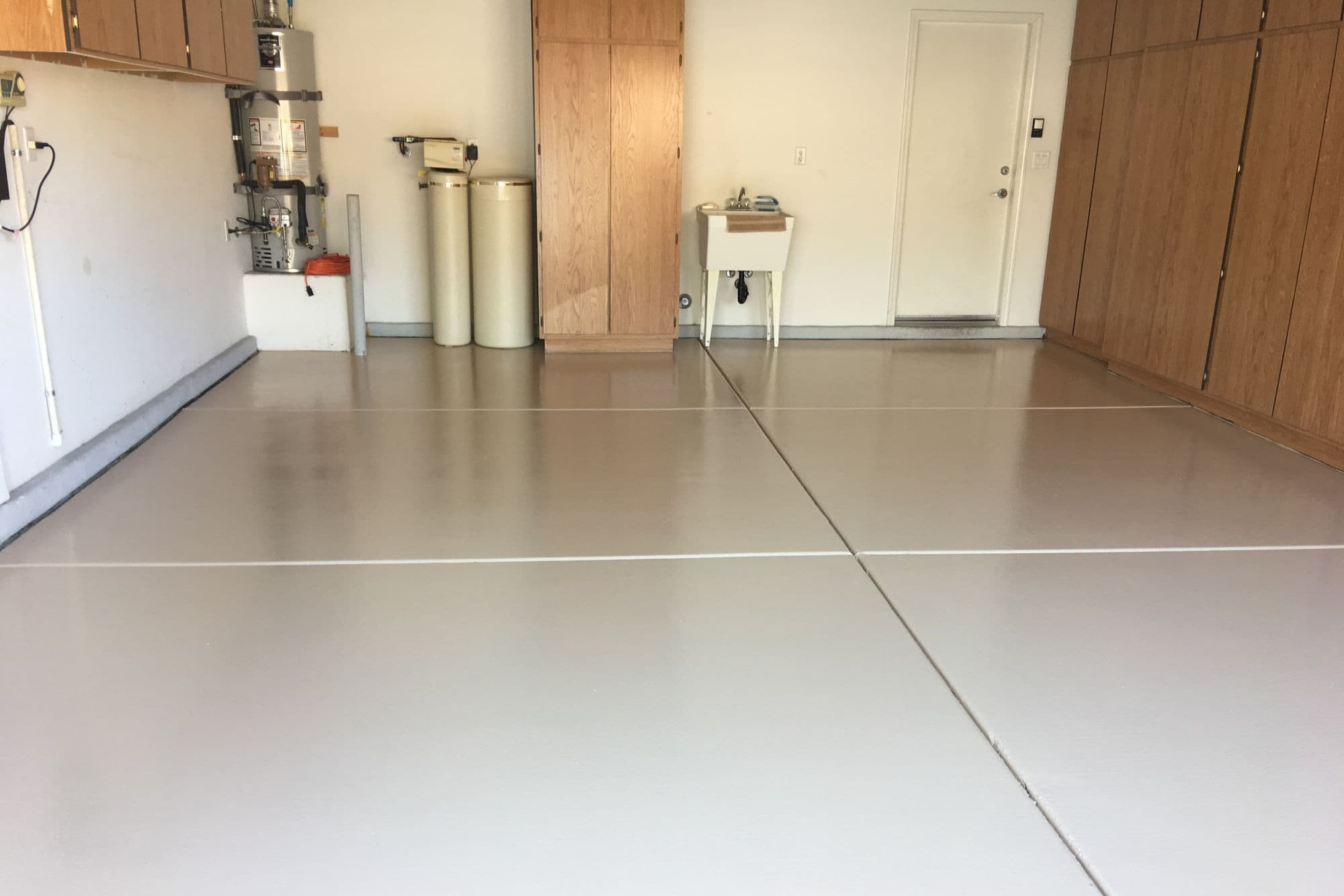 garage epoxy coating one solid color