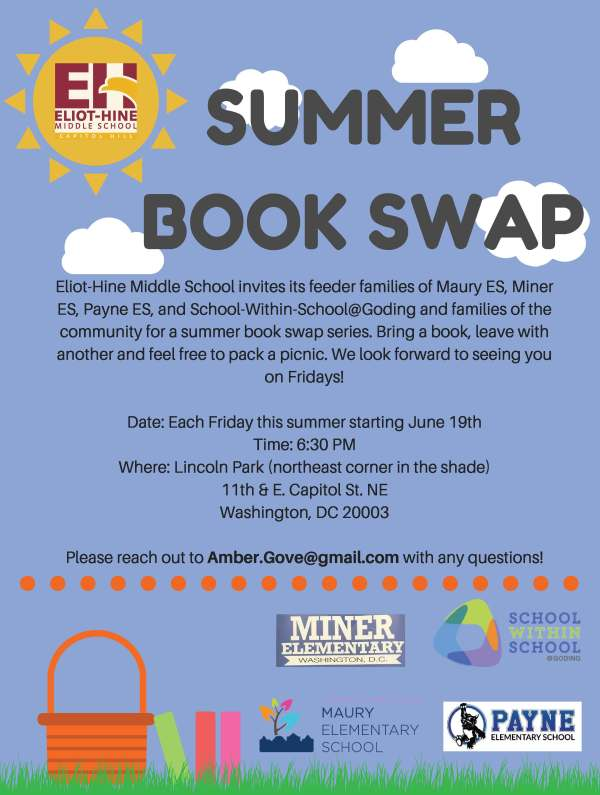 Eliot-hine Feeder Families Friday Summer Book Swap