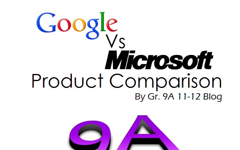 Google & Microsoft Product comparison (INFOGRAPHIC) (1/2)
