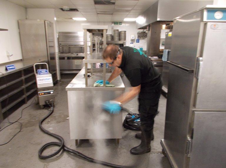industrial kitchen cleaning services light fixtures eastleigh southampton dcs restaurant worktop