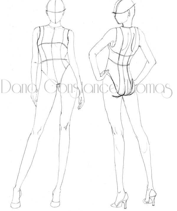 Croqui Fashion Model Templates Pictures to Pin on